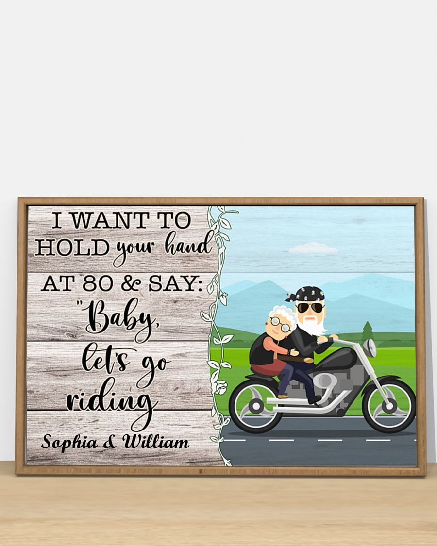 [LIMITED] Poster Biker I want to hold you hand at 80 and say baby let's go riding