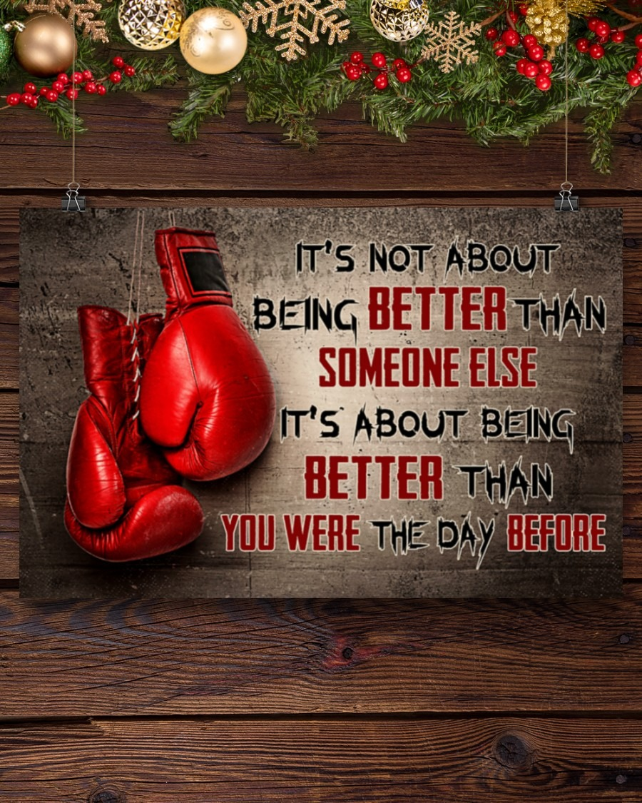 [LIMITED] Poster Boxing it's not about being better than someone else