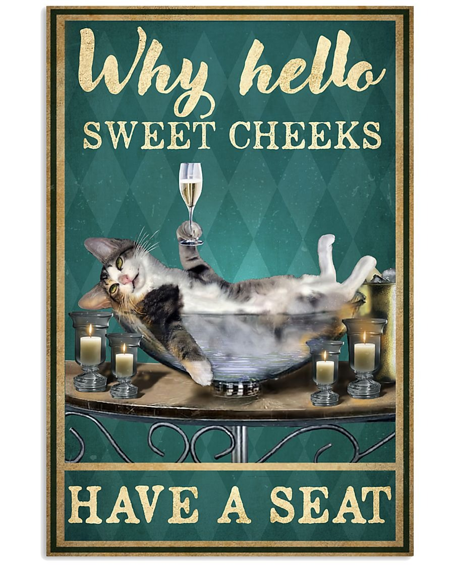 [LIMITED] Poster Cat why hello sweet cheeks have a seat