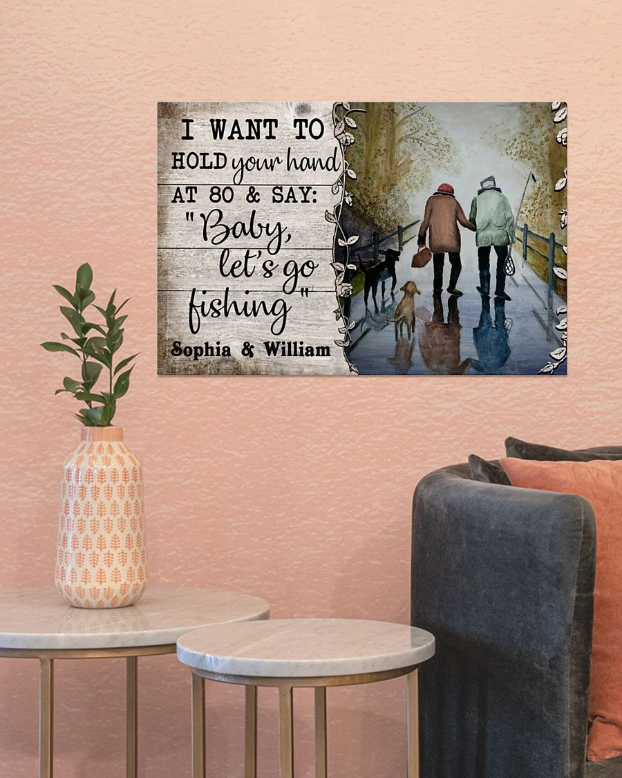 [LIMITED] Poster Fishing I want to hold your hand custom personalized name
