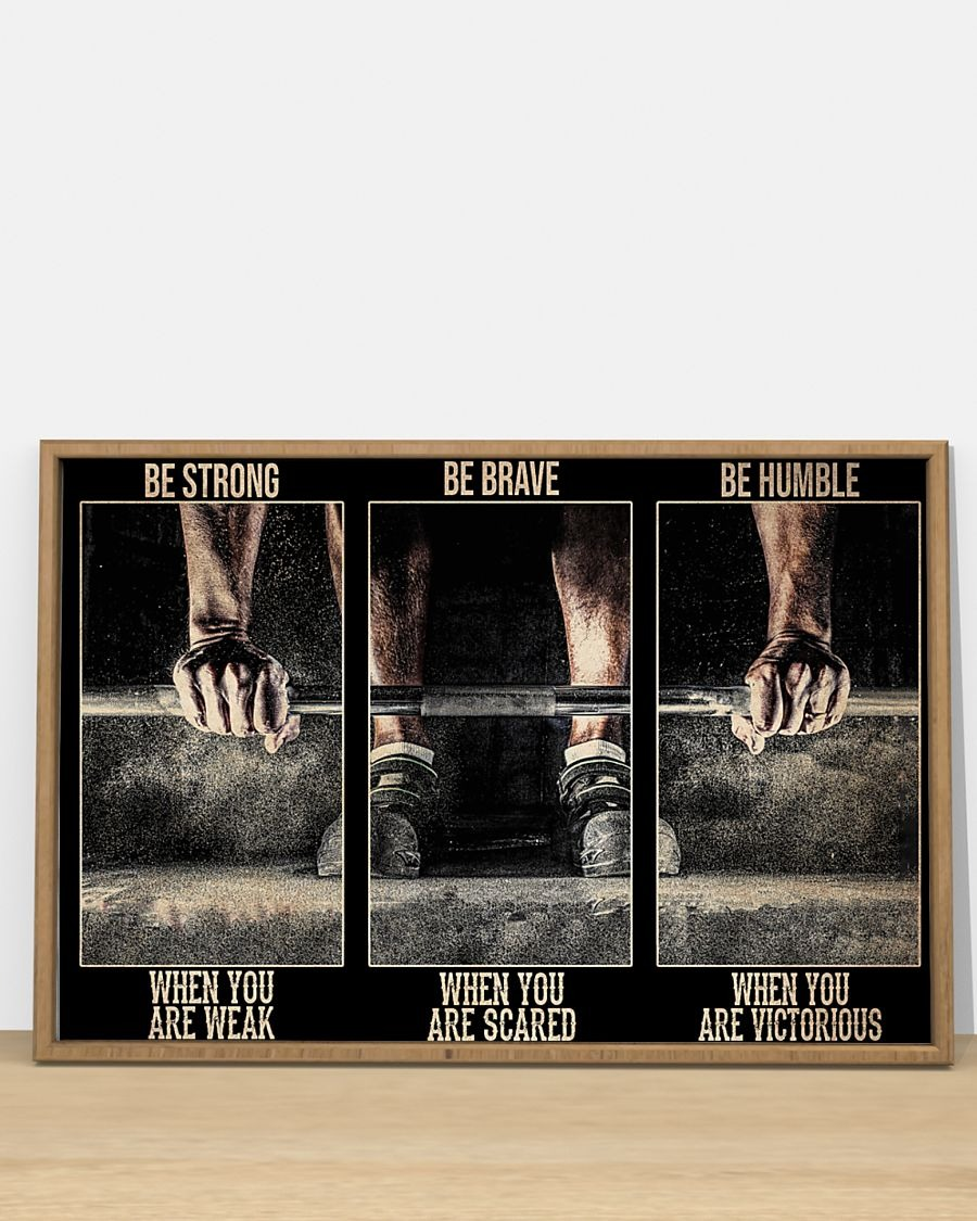 [LIMITED] Poster Fitness be strong be brave be humble be badass