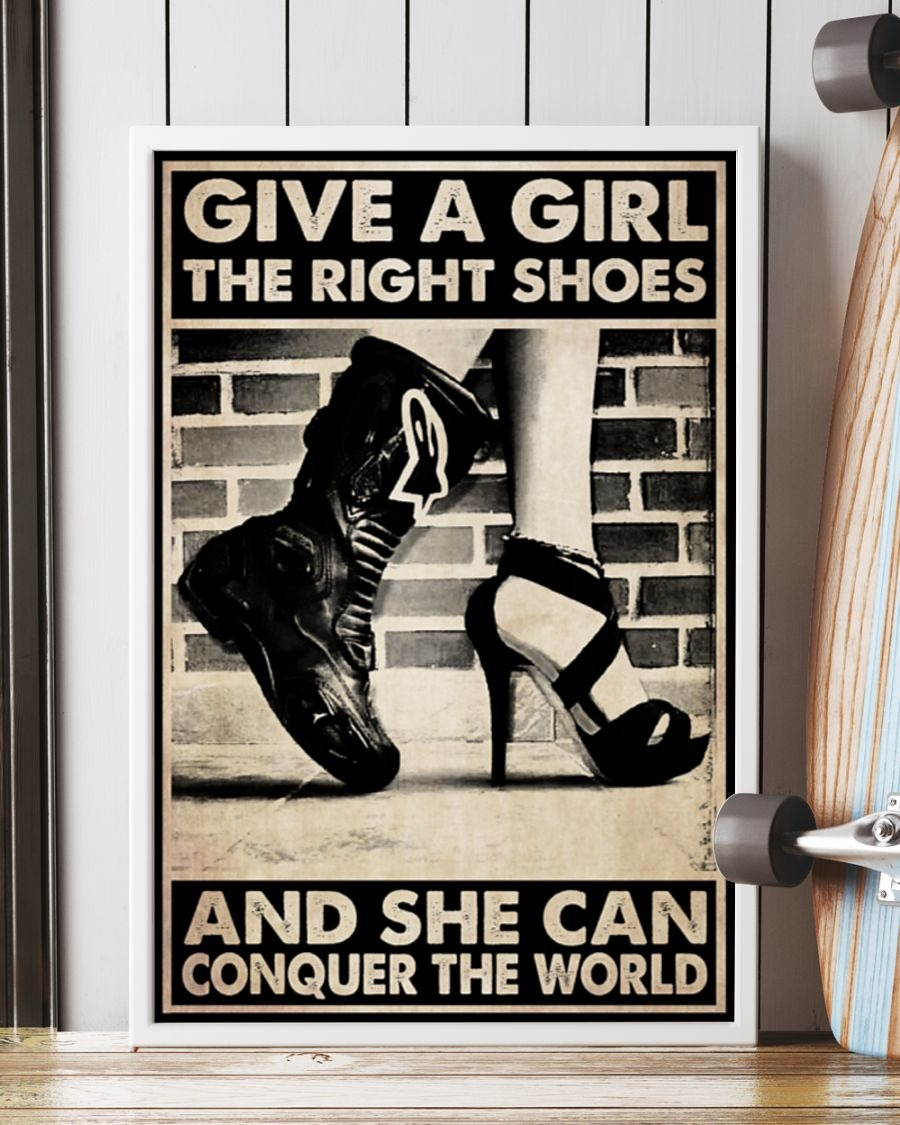 [LIMITED] Poster Give a girl the right shoes and she can conquer the world