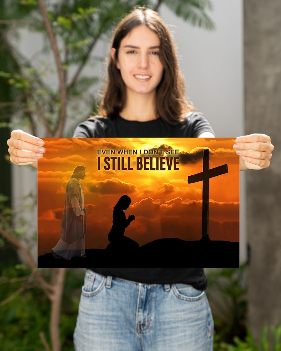 [LIMITED] Poster God even when I don't see I still believe