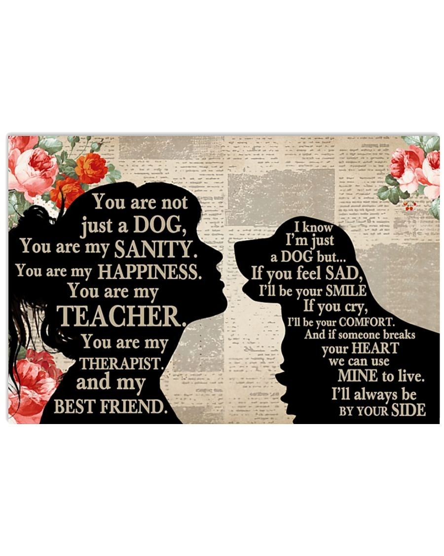 [LIMITED] Poster Golden Retriever dog and girl therepist you are not just a dog