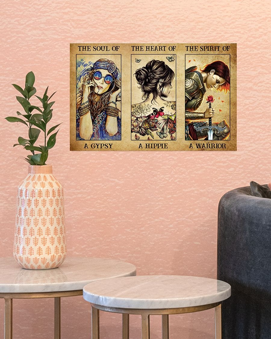 [LIMITED] Poster Hippie warrior girl The soul of a gypsy the heart of a hippie the spirit of a warrior