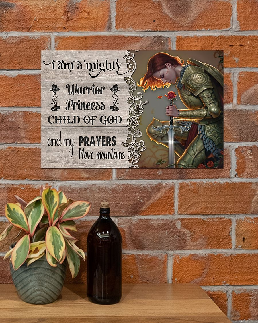 [LIMITED] Poster I am a mighty warrior princess child of god and my prayers