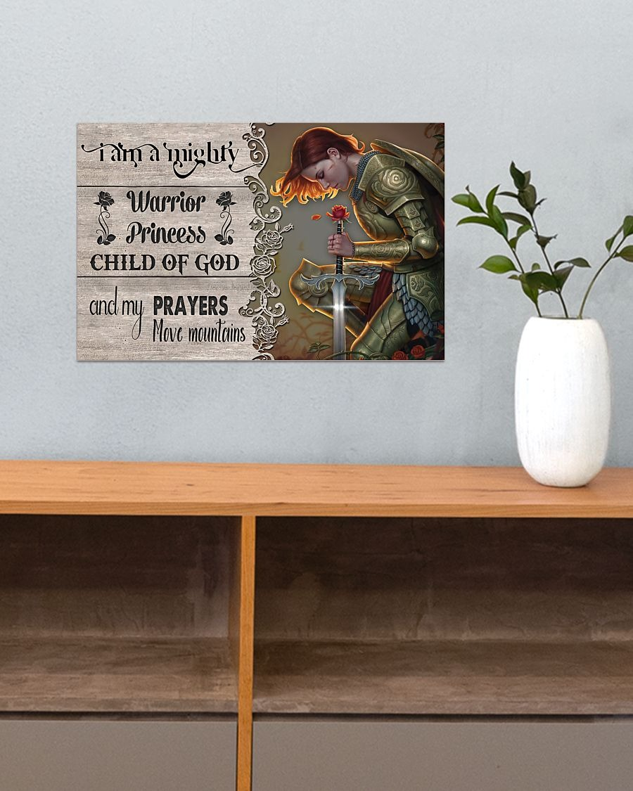 [LIMITED] Poster I am a mighty warrior princess child of god