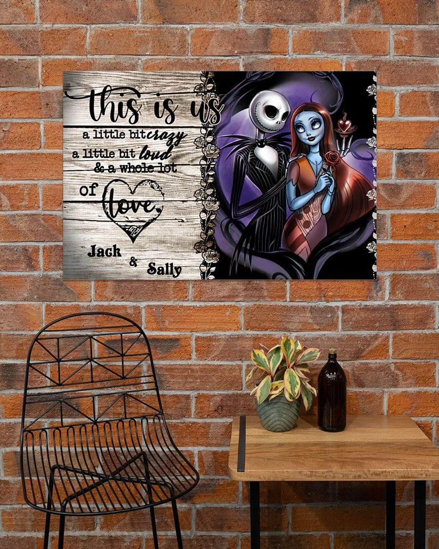 [LIMITED] Poster Jack Skellington and Sally this is us a little bit of crazy custom personalized name