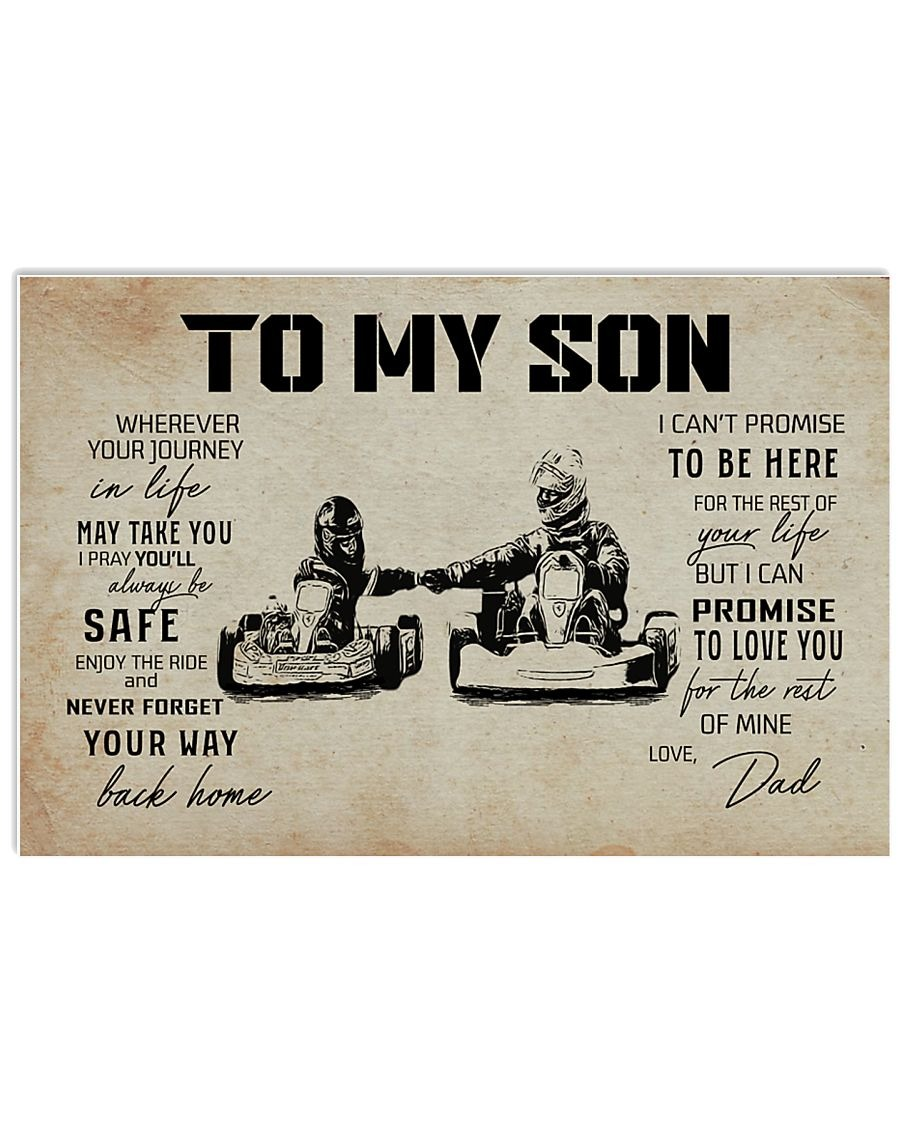 [LIMITED] Poster Kart racing dad to my son