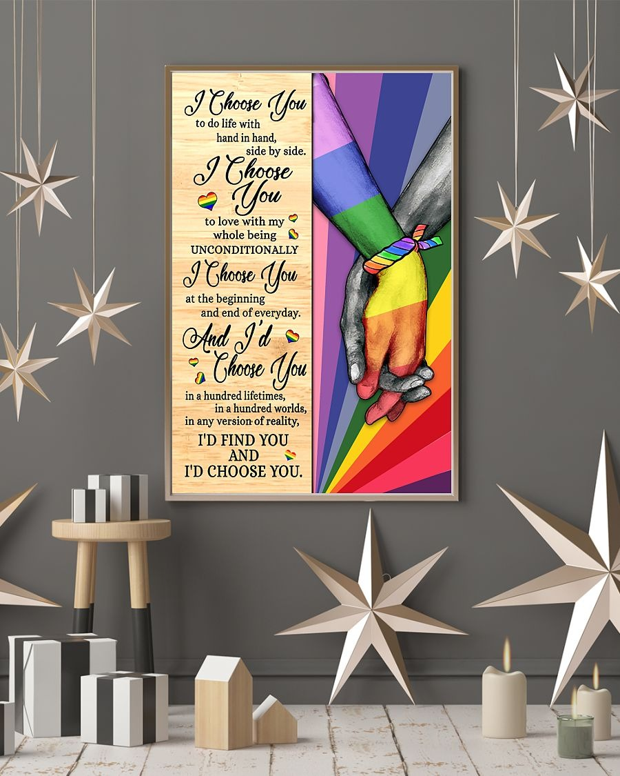 [LIMITED] Poster LGBT I choose you to do life with hand in hand