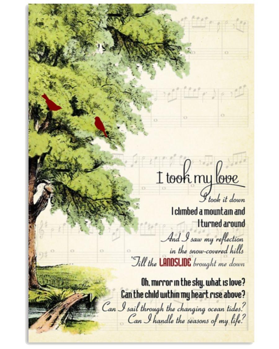 [LIMITED] Poster Landslide I took my love