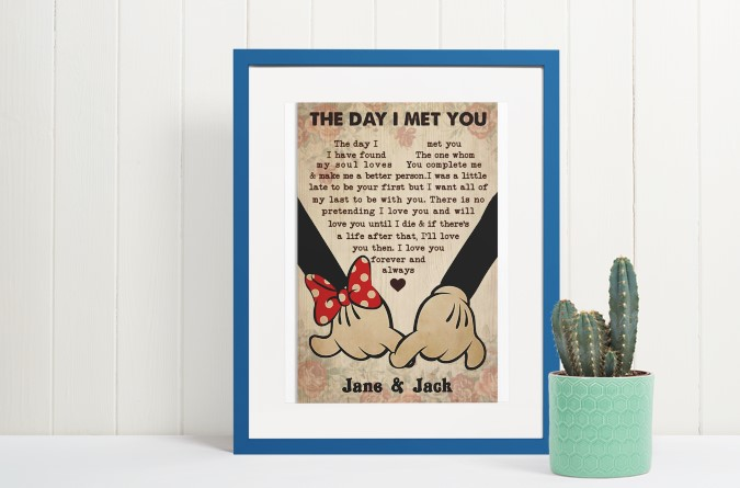[LIMITED] Poster Mickey and Minnie the day I met you