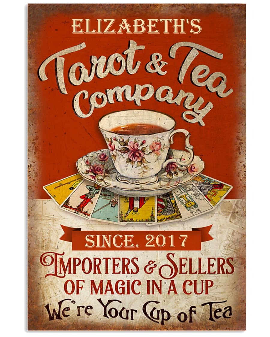 [LIMITED] Poster Personalized Tarot and tea company importers and sellers of magic in a cup