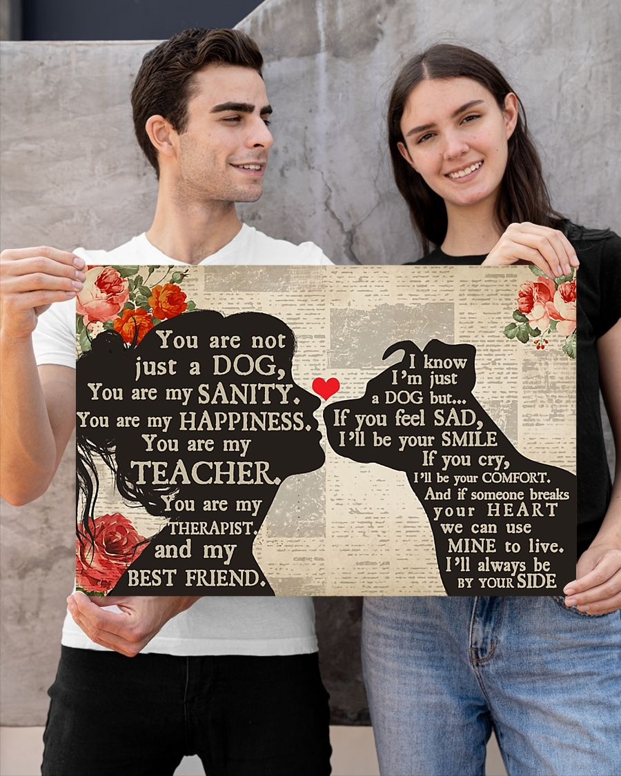 [LIMITED] Poster Pitbull dog and girl therepist you are not just a dog