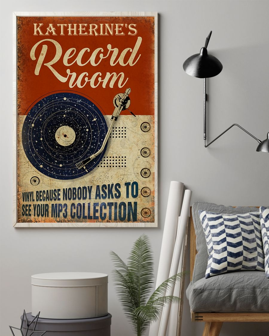 [LIMITED] Poster Record room vinyl because nobody asks to see your mp3 collection
