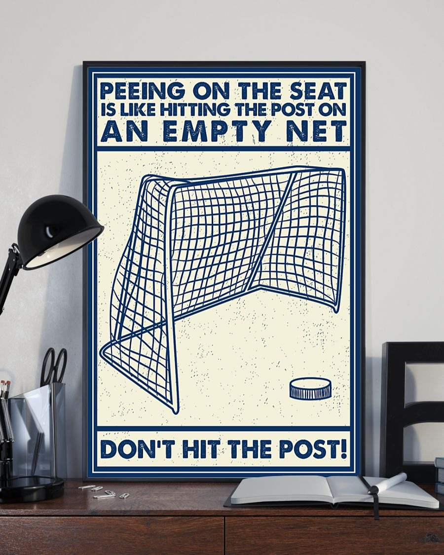 [LIMITED] Poster Retro hockey peeing on the seat an empty net