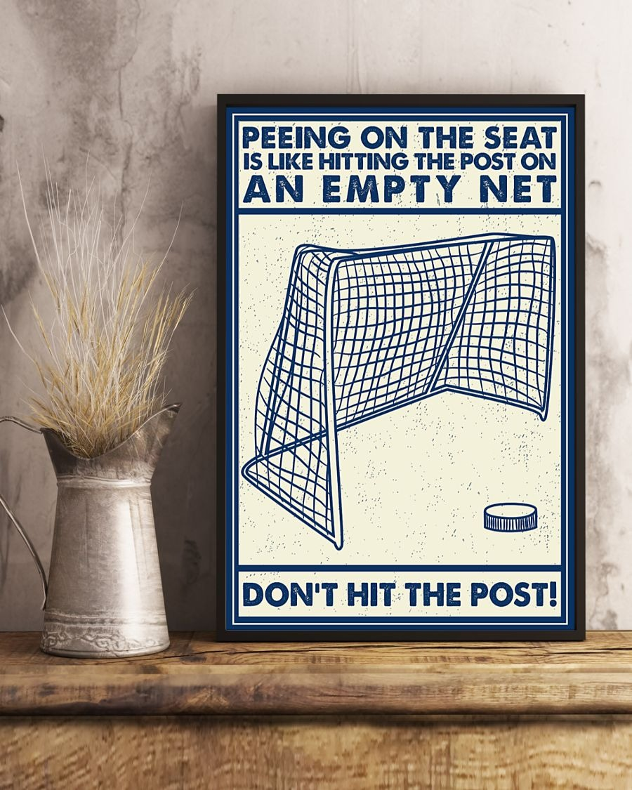 [LIMITED] Poster Retro hockey peeing on the seat is like hitting the post on an empty net