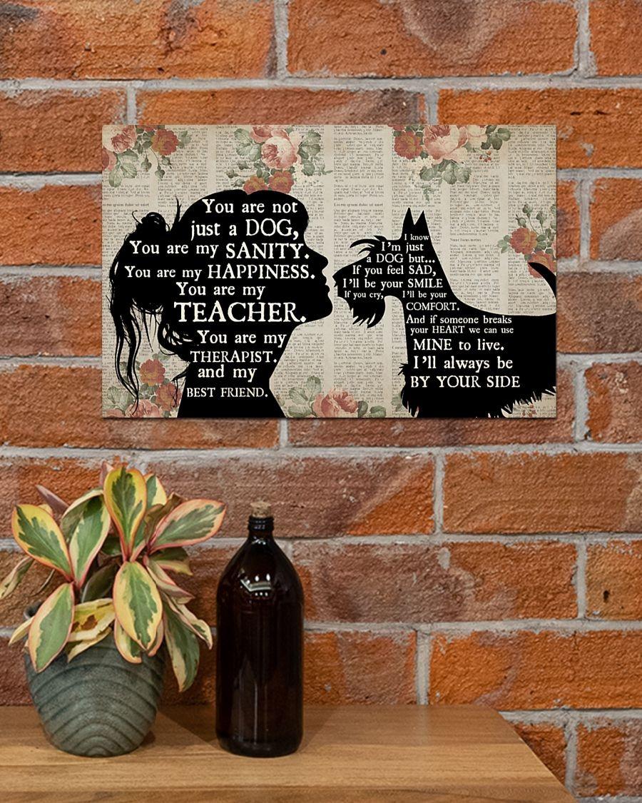 [LIMITED] Poster Schnauzer dog girl therapist best friend