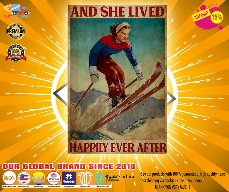 [LIMITED] Poster She lived happily ever skiing