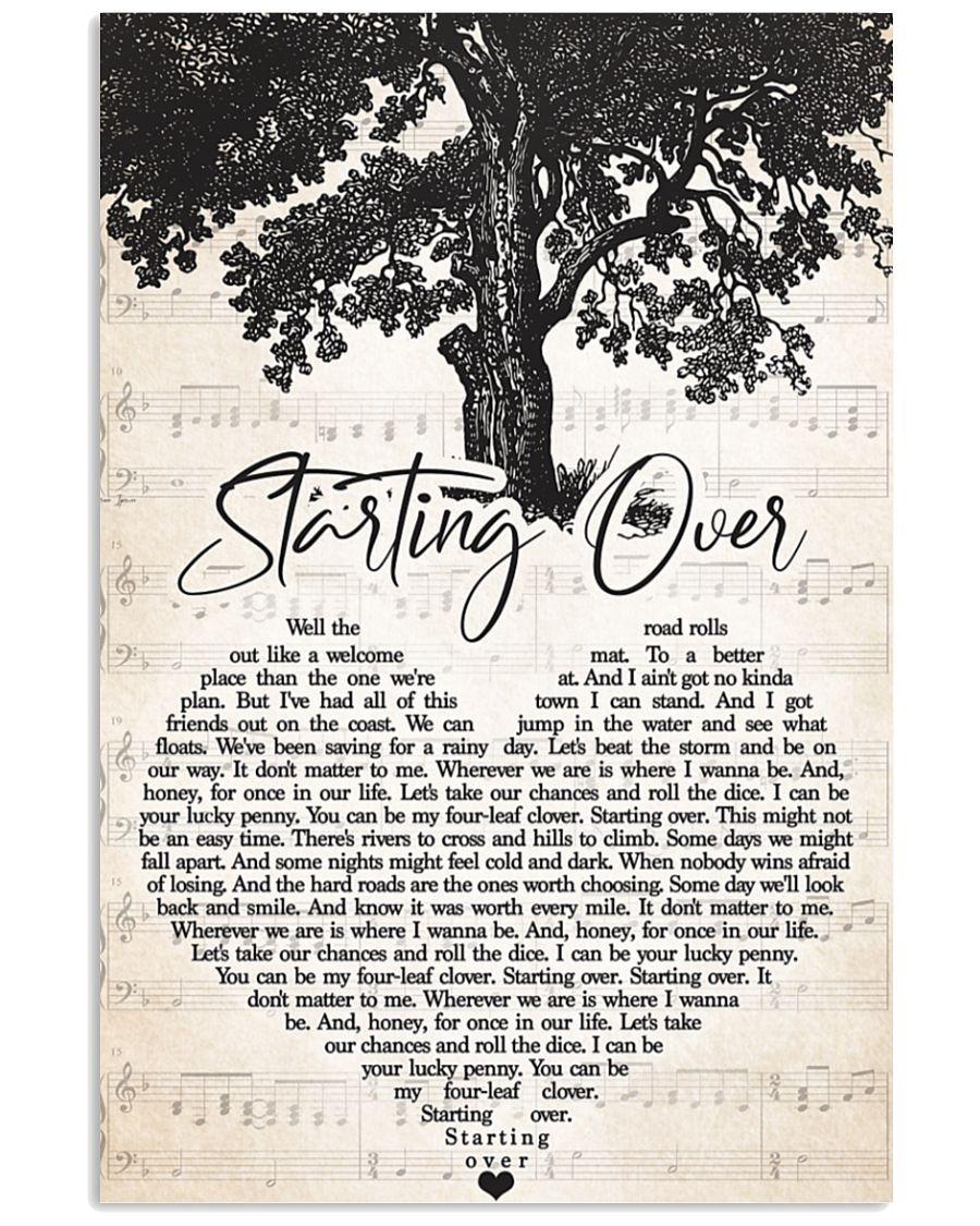 [LIMITED] Poster Staring over lyrics