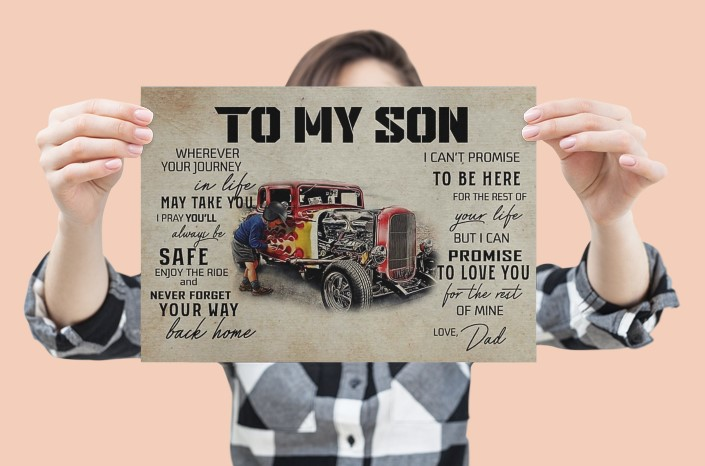 [LIMITED] Poster Truck To my son wherever your journey in life