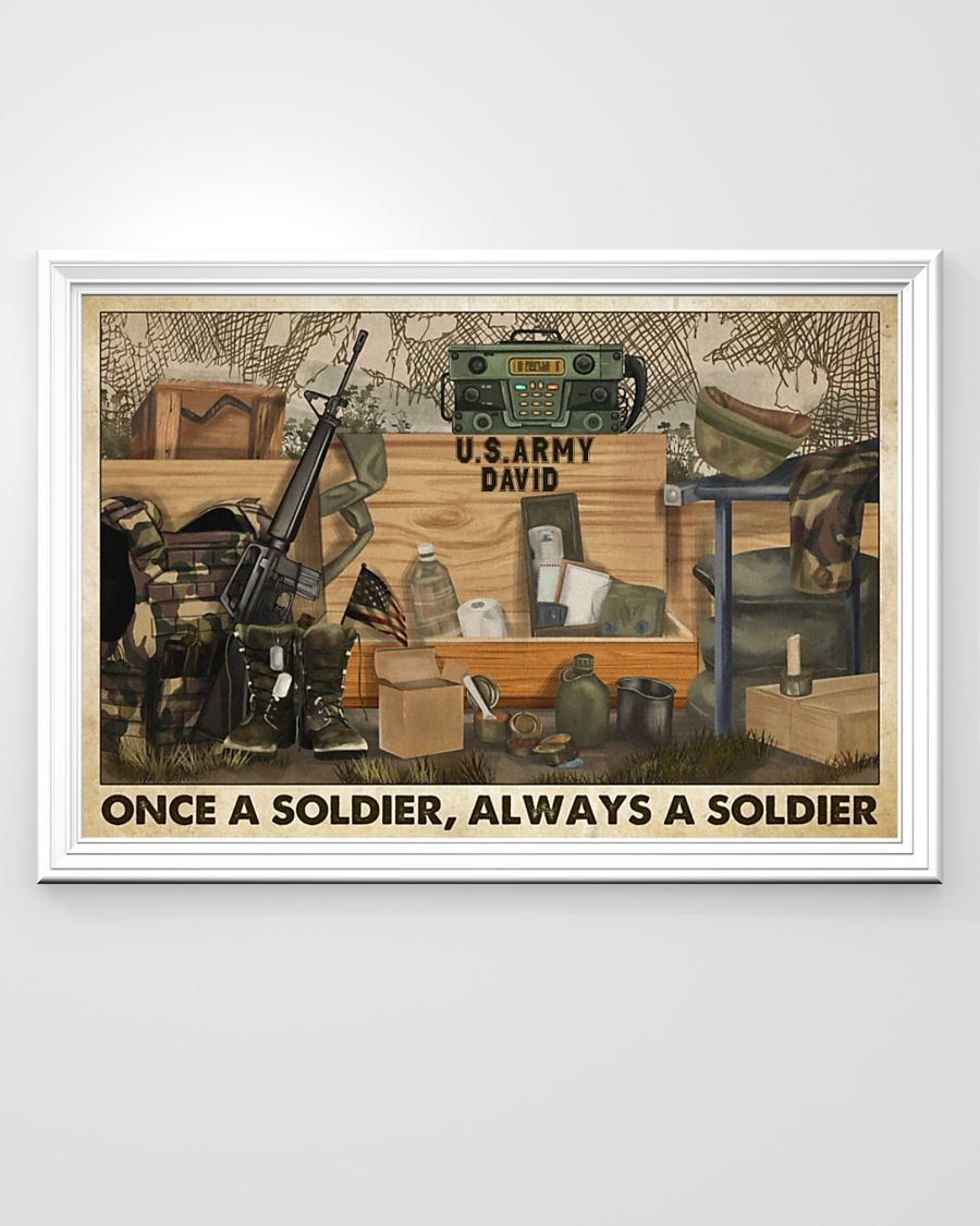 [LIMITED] Poster Veteran once a soldier always a soldier
