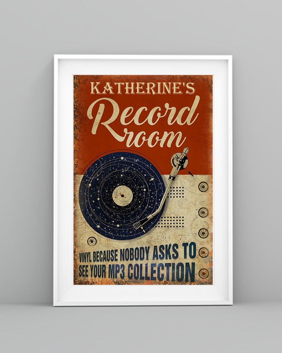 [LIMITED] Poster Vinyl record room because nobody asks to see your mp3 collection
