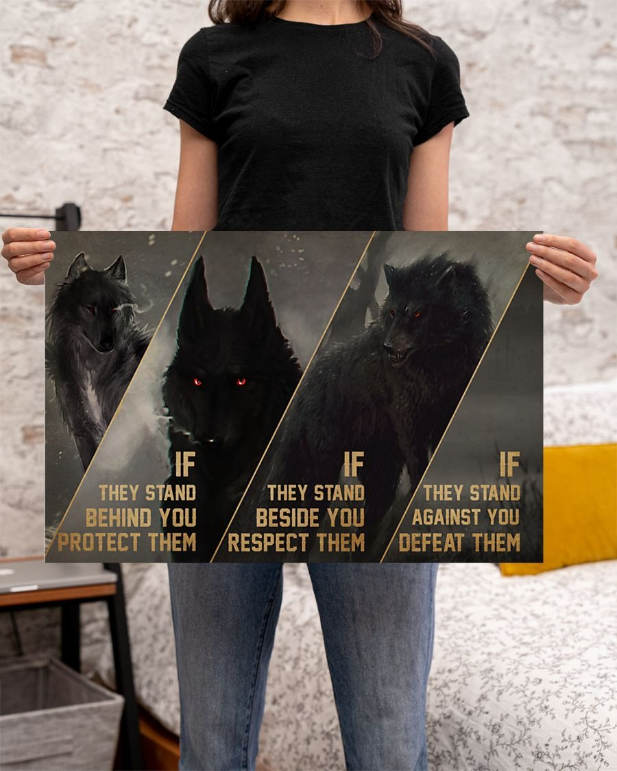 [LIMITED] Poster Wolf if they stand behind you protect them