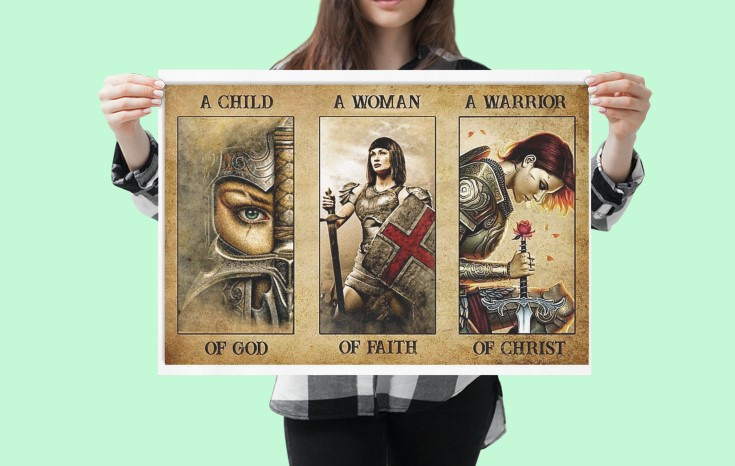 [LIMITED] Poster Women a child of god a women of faith a warrior of child