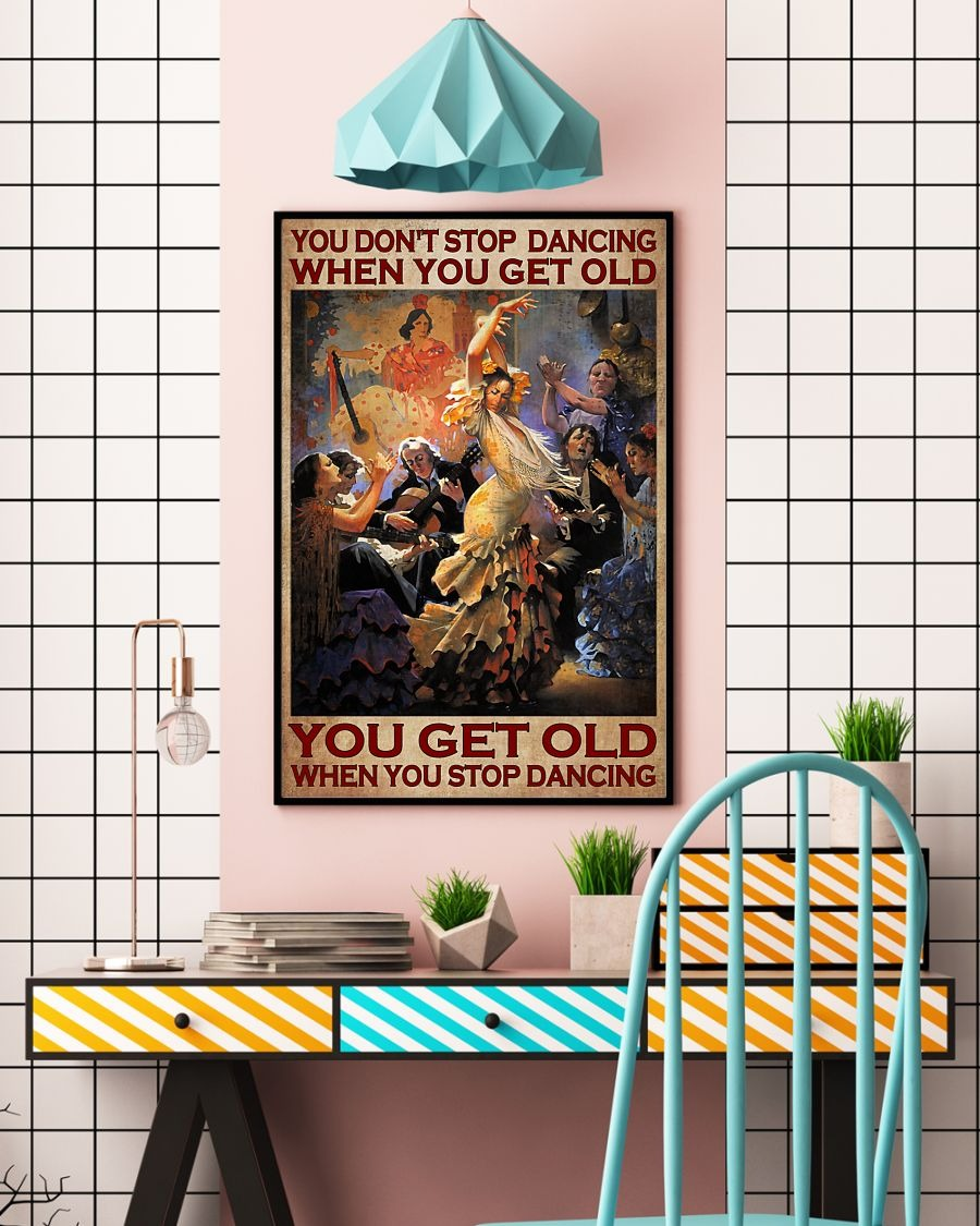 [LIMITED] Poster You don't stop dancing when you get old