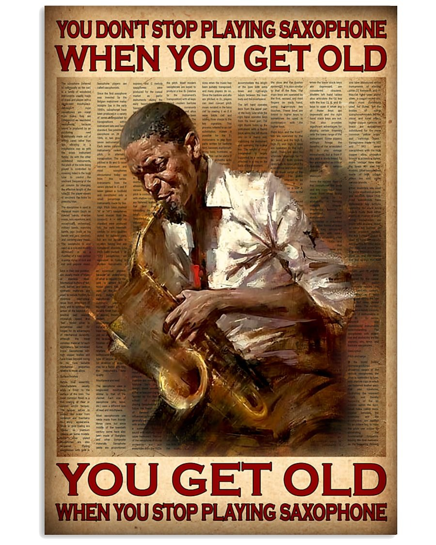 [LIMITED] Poster You don't stop playing saxophone when you get old