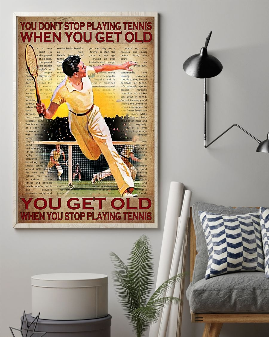 [LIMITED] Poster You don't stop playing tennis when you get old
