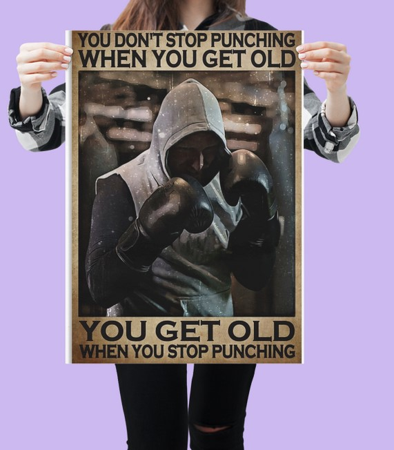 [LIMITED] Poster You don't stop punching when you get old