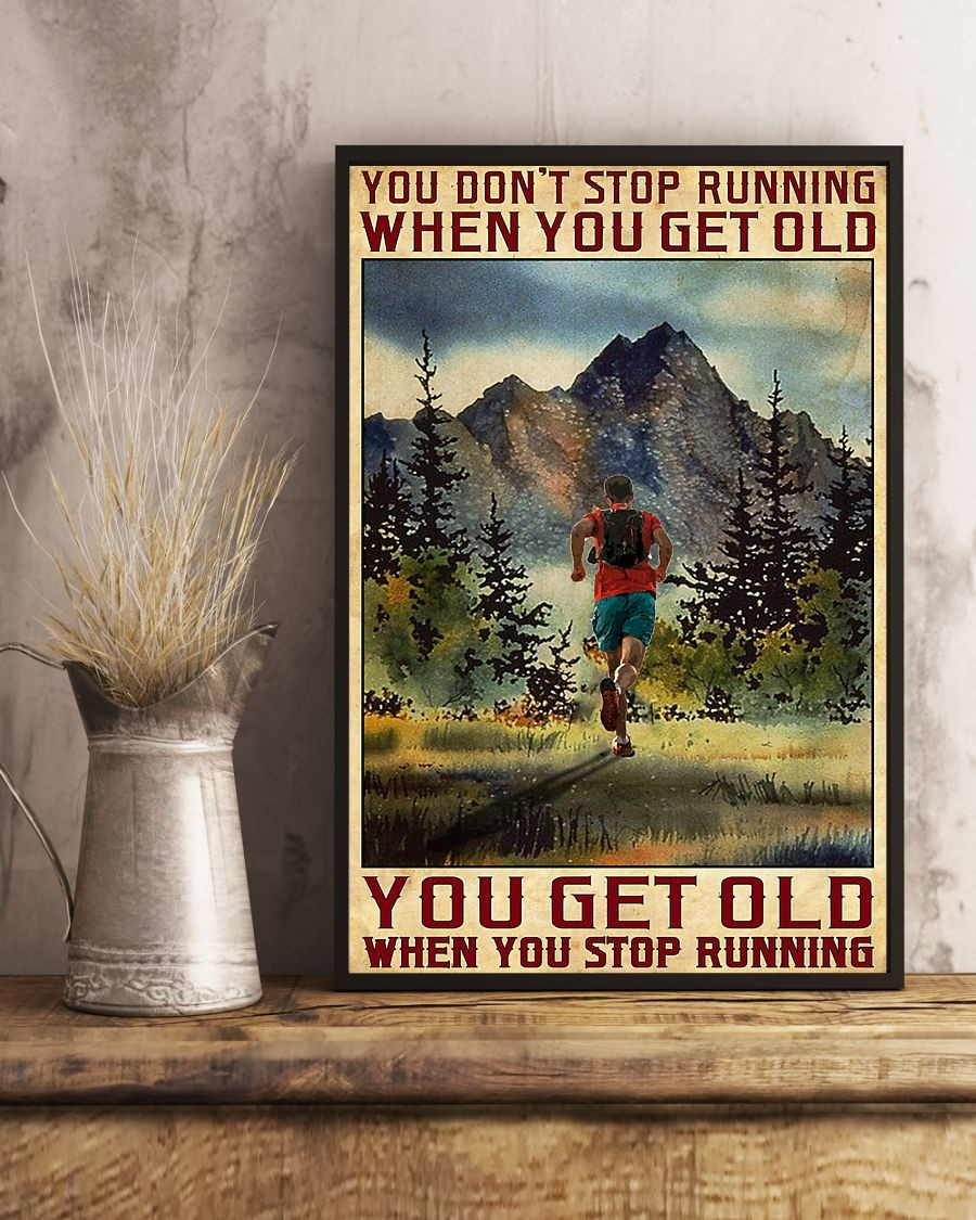 [LIMITED] Poster You don't stop running when you get old