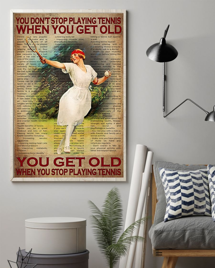 [LIMITED] Poster You don't stop tennis when you get old
