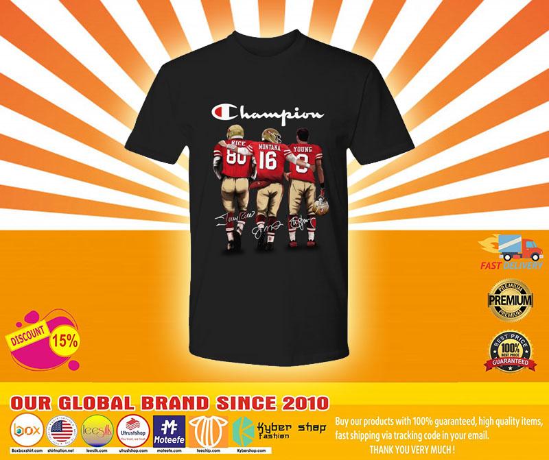 [LIMITED] San Francisco 49er Champion rice montana young shirt