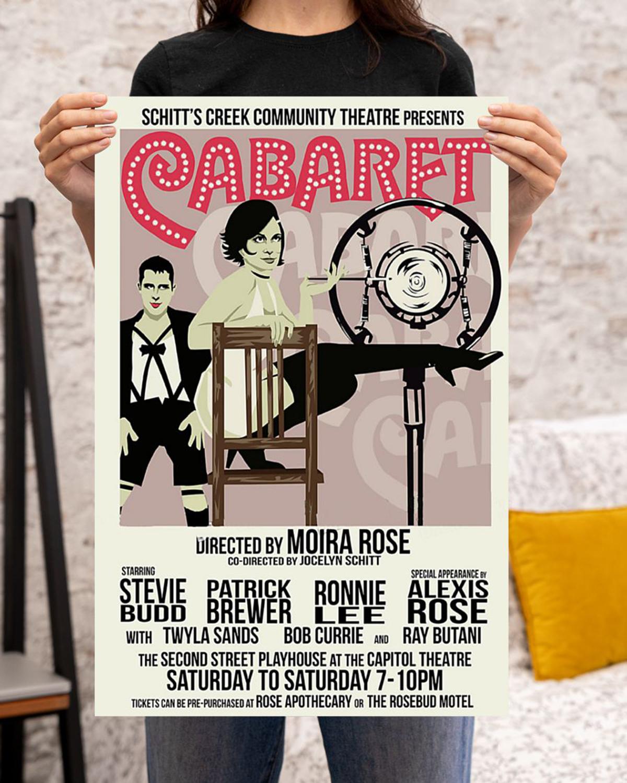 Schitt's creek community theatre presents Cabaret poster