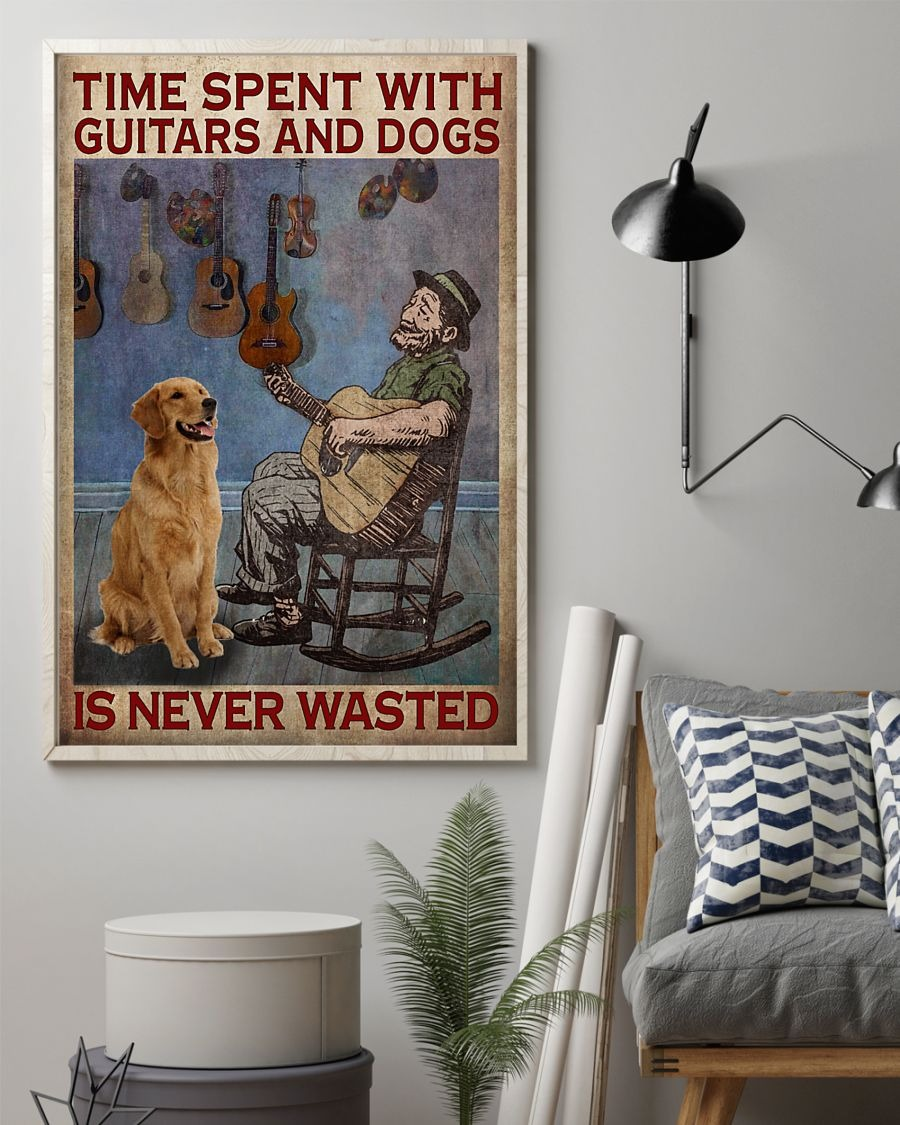 [LIMITED] Poster Time spent with guitars and dogs is never wasted