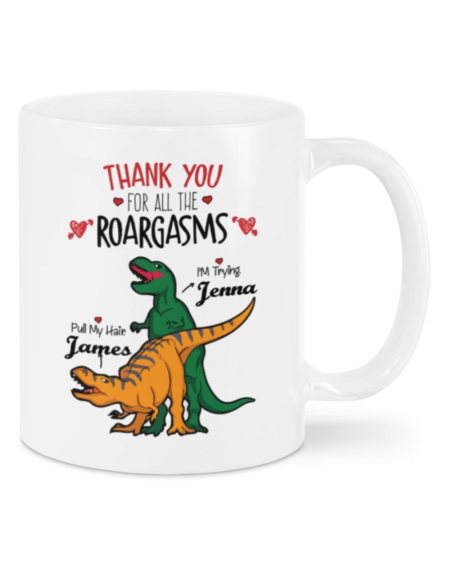 Valentine Dinosaur Thank you for all the roargasms mug