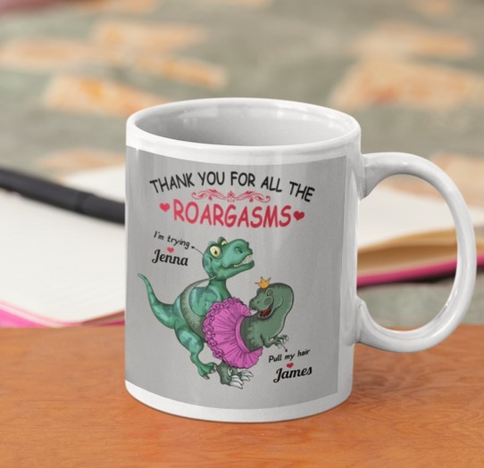 [LIMITED] Valentine Dinosaur Thank you for all the roargasms mug