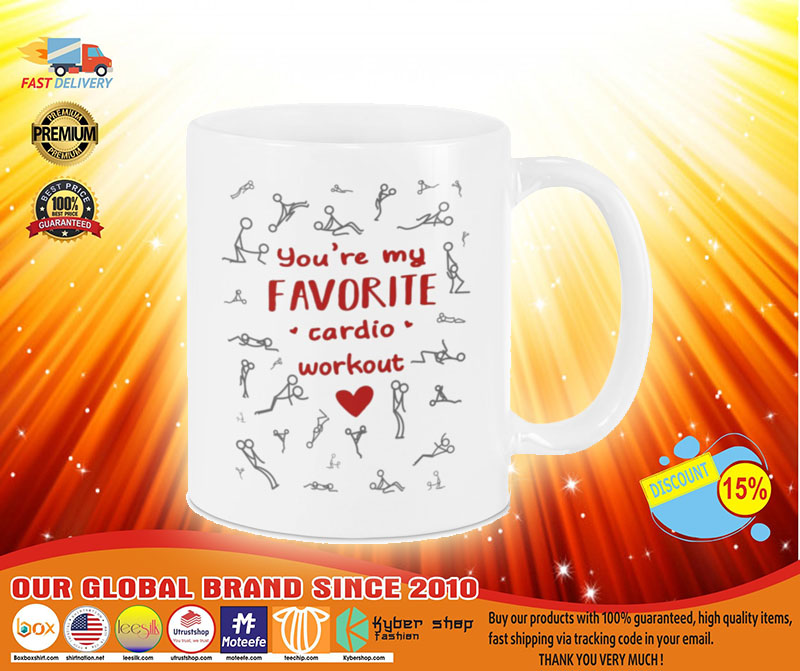 [LIMITED] Valentine You're my favorite cardio workout mug