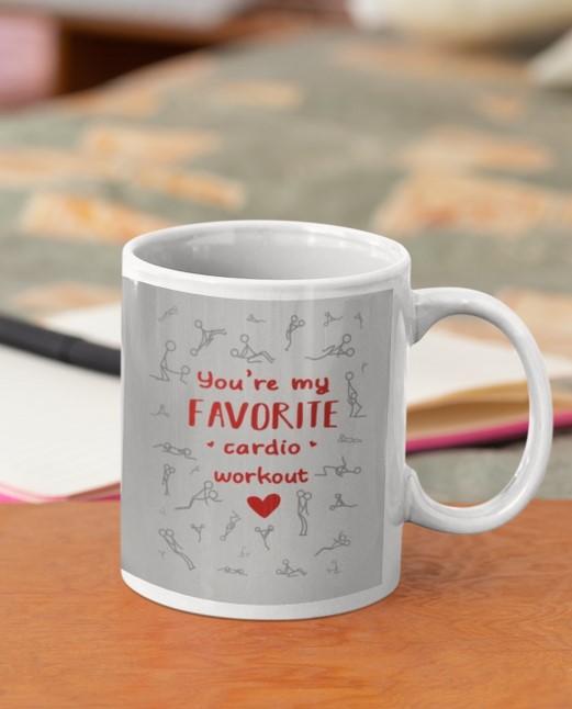 [LIMITED] You're my favorite cardio workout Valentine mug