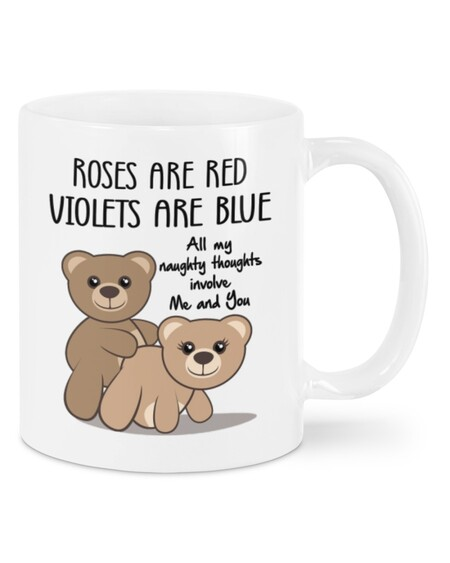 Amazing all my naughty thoughts involve me and you happy valentine's day mug
