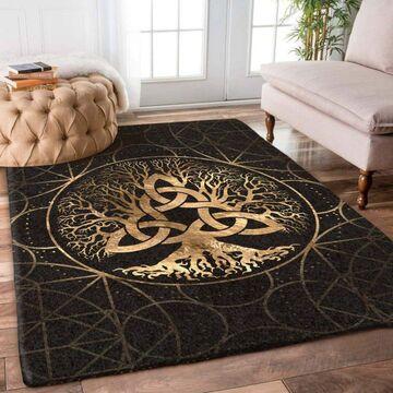 Amazing celtic tree of life viking symbol all over printed rug
