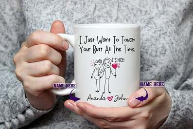 Amazing custom i just want to touch your butt all the time gift for wife coffee mug