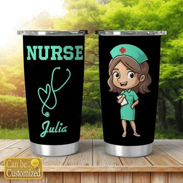 Amazing custom thanks for nurses all over print tumbler