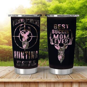 Amazing hunting best bucking mom ever all over print tumbler