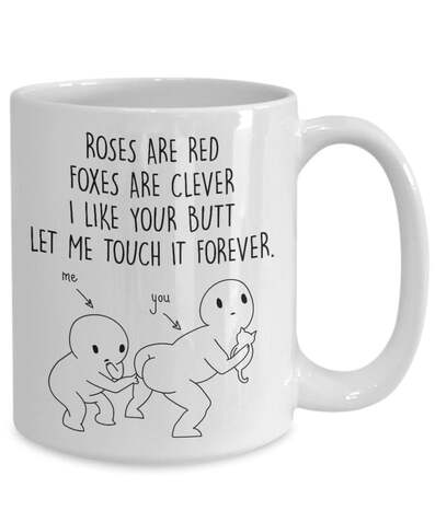 Amazing i like your butt let me touch your butt forever gift for couple mug