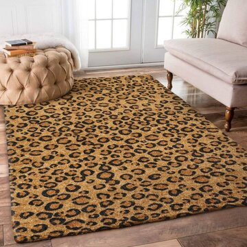 Amazing leopard pattern all over printed rug