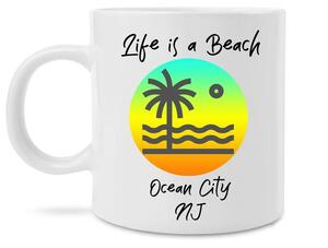 Amazing life is a beach ocean city new jersey coffee cup
